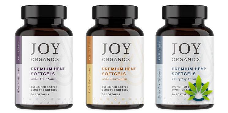Joy Organics Hemp Softgels with Curcumin