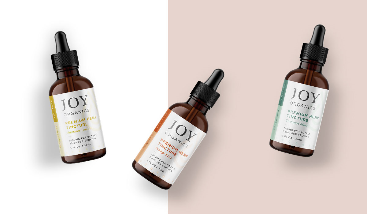 Joy Organics Hemp Oil Tinctures Natural Flavor