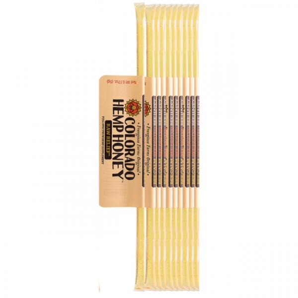 Colorado Hemp Honey RAW RELIEF STICKS.